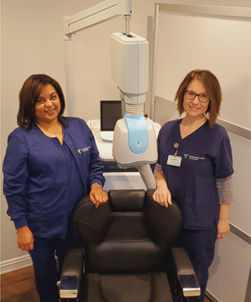 TMS chair for depression treatment.
